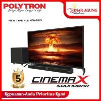 LED TV Polytron 40 Inch PLD40B150 / 40B150 SOUND BAR RESMI (100% ORI)