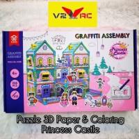 3D puzzle & Coloring istana Princes/istana Tuan Putri Mainan Susun Ker