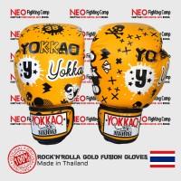 YOKKAO GLOVE ROCK'N'ROLLA GOLD FUSION MUAYTHAI BOXING