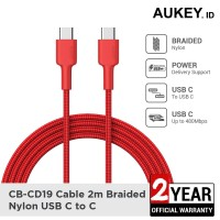 Aukey Cable CB-CD19 Braided C to C 2M Red - 500429