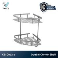 VONE CS-C032-2 Double Corner Shelf Rak Sudut Kamar Mandi Toilet