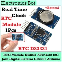 RTC Clock Jam DS3231 AT24C32 i2c Baterai Arduino Module Real Time Jam