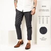 Celana Panjang Pria / Celana Stripe Ankle Pants