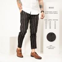 Celana Panjang Pria / Celana Stripe Abu