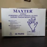 Sarung Tangan Steril Maxter No. 6.5, 7, dan 7.5