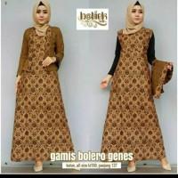 Gamis Bolero Genes 2in 1 Lepasan Batik Modern Longdress Muslim