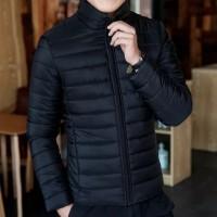 jaket pria wanita musim dingin anti air terbaru jaket mantel wanita - Hitam, M