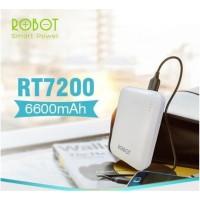 POWERBANK ROBOT RT7200 6600MAH 2 USB ORIGINAL MINI POWER BANK PORTABLE