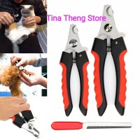 "Gunting Kuku Kucing Anjing  1 Set Gunting + Kikir "" Pet Nail Clipper"