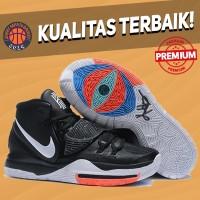 Sepatu Basket Sneakers Nike Kyrie 6 Black White Red Bred Hitam Putih