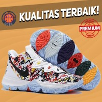 Sepatu Basket Sneakers Nike Kyrie 5 Keep Sue Fresh White Multicolor