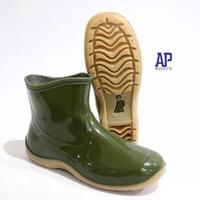 AP Boots Pendek Kecil 2005 Green Hijau Glossy Mengkilap - AP Boots - Hijau, 23