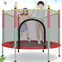 """Trampolin trampoline anak dengan jaring mainan anak perempuan laki 55"""""""