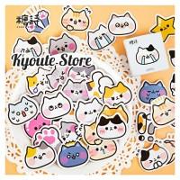 Sticker Dekorasi Cute Cat Emotion Scrapbook DIY Bujo Planner Journal