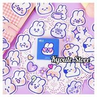 Sticker Dekorasi Cute Bunny Head Scrapbook DIY Bujo Journal Planner