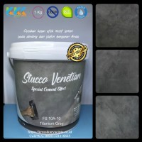 Cat Stucco Motif Warna Semen Gelap FS Titanium Grey