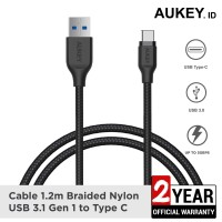 Aukey Cable 1.2M USB 3.1 gen 1 to USB C Braided Black - 500279