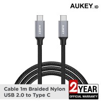 Aukey Cable 1M Braided C to C USB 2.0 - 500287