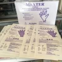 sarung tangan latex steril Maxter