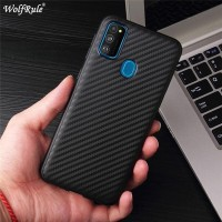 SAMSUNG GALAXY M21 M215 CARBON SYNTHETIC SOFT SILICONE CASE COVER TPU