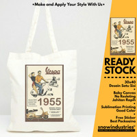 "[READY] Tote Bag/Tas Jinjing Fashion "" Vespa 1955 "" - Non Resleting"