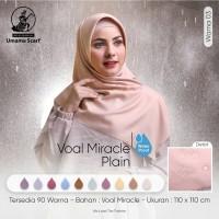 Hijab Jilbab Kerudung Segi Empat Voal Miracle Plain Umama Scarf Part 2