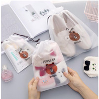 Travel Pouch Anti Air serbaguna / Tas Serut Make Up Kosmetik Motif - SMALL