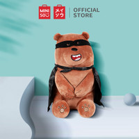 MINISO Boneka We Bare Bears Berbahan Katun Bantal Lembut Dekorasi - Grizzly