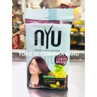 NYU Creme Hair Colour 5.62 BURGUNDY 1 sachet |nyu Pewarna Rambut Murah