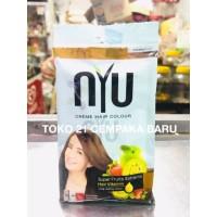 NYU Creme Hair Colour 5.30 CARAMEL 1 sachet | Pewarna Rambut Nyu Murah