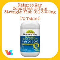 Natures Way Odourless Triple Strength Fish Oil 3000mg (70 Tablet)