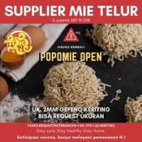Mie Telur Popomie Bisa Request Tebal Halus Gepeng Lurus Keriting - 2mm Gepeng, Lurus