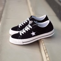 Converse One Star OX Vintage Suede Black Whote