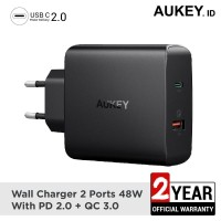 Aukey Charger 2 Ports 48W PD 2.0 USB C QC 3.0 - 500220