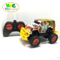 Mainan Mobil Remote Control - RC Jeep Rock Crawler motif batik