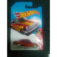 Hotwheels Super Treasure Hunt 63 Chevy II STH TH Ban Karet hot wheels