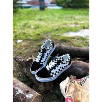 VANS OLD SKOOL CHECKERBOARD BLACK WHITE JAPAN MARKET ORIGINAL