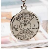 Gantungan Kunci Kalender Super Logam Unik Berulang 50 Tahun