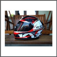 Helm KYT R10 Seri 2 White Red Helm Full Face