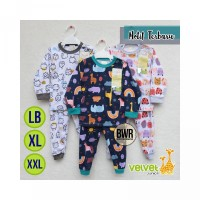 PO658 Setelan Velvet Junior PANJANG Motif Little Sunshin LB XL XXL Piy
