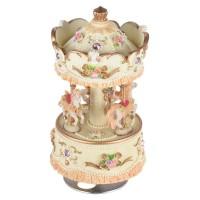 Muslady Laxury Windup 3-horse Carousel Music Box Artware/Gift Melody