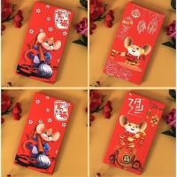 1Pc Amplop Angpao Tahun Baru Imlek Gambar Kartun Year Warna Merah