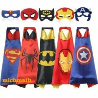 Jubah Topeng superhero Batman Superman Spiderman Ironman Captain