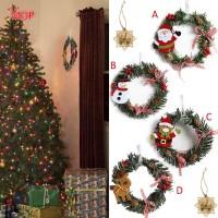 ✯ Mini Christmas Wreath Decor Wall Door Hanging Ornament Garland