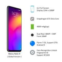 """Smartphone Meizu Note 9 Layar 6.2 """"4GB RAM 64GB ROM snapdragon 675"""