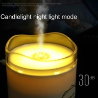 300ML Air Humidifier Candle Light USB Essential Oil Diffuser Car