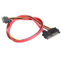 22 Pin Male to Female 7+15 pin SATA Data Power Combo Extension Cable