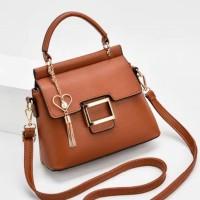 READY STOK JT0896-brown Tas Selempang Import Elegan Wanita Cantik