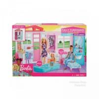Rumah Boneka Barbie Mattel Doll House Kitchen Pool Bedroom Bathroom SA