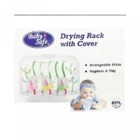 Baby Safe Drying Rack With Cover Rak Botol Dr002